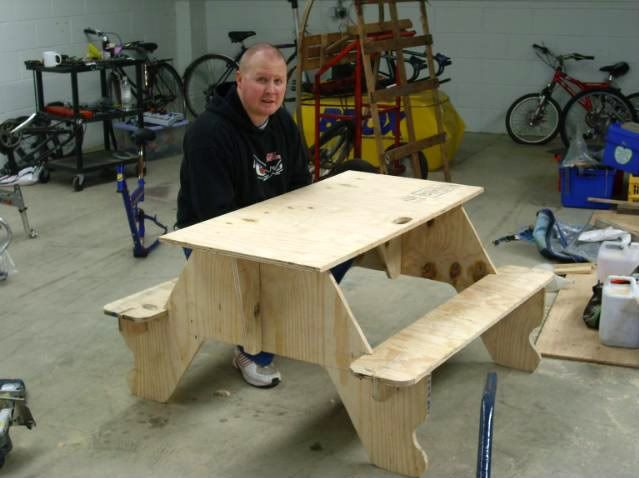 how to make a picnic table out of 1 sheet of plywood | Woodworking ...