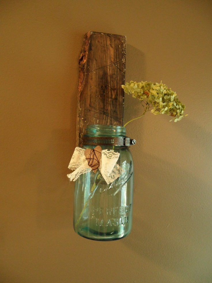 Blue mason jar craft for the house pinterest for Jar crafts