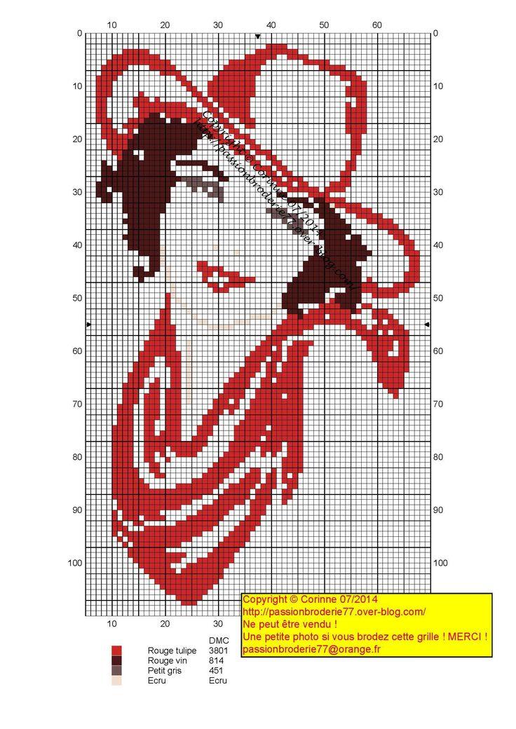 Points de croix *@* cross stitch cow girl