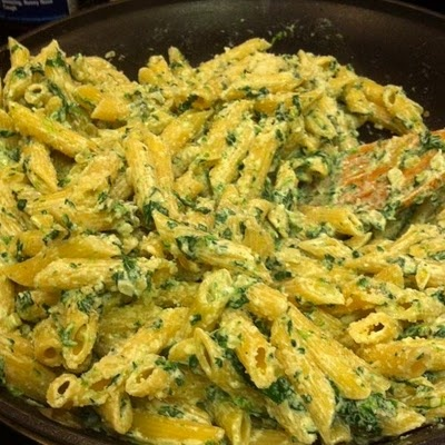 Penne with Spinach and Homemade Ricotta | Eat | Pinterest