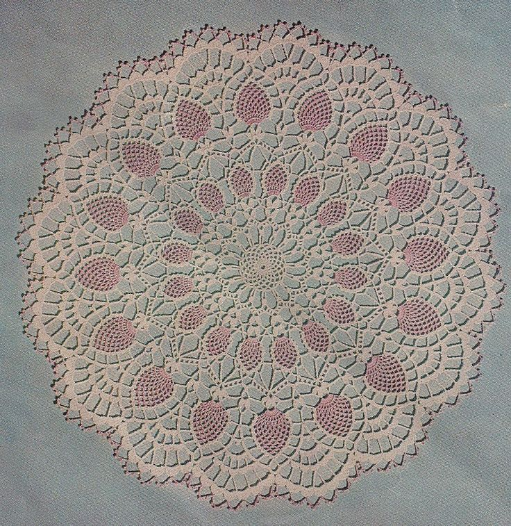 Crochet Patterns Doilies : 1956 Pineapple Vintage Crochet Doily Pattern by CrochetbyCindy, via ...