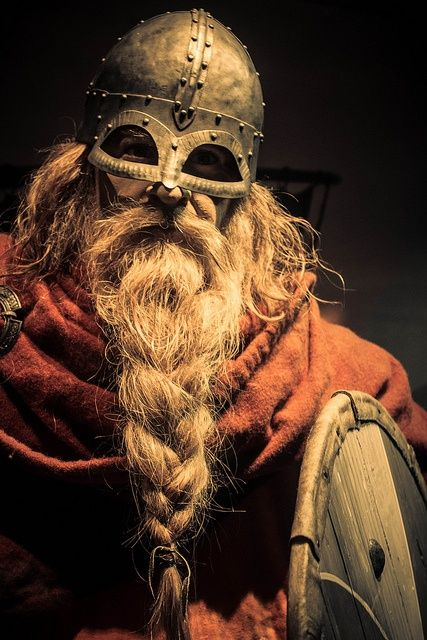 Beards and helmets   the circle of time doesn t change the basics much    Viking Beard Braid