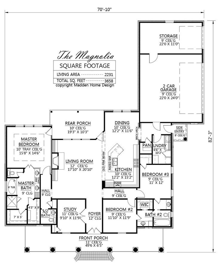 Madden Home Design The Magnolia House Plans Pinterest