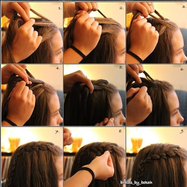 Waterfall braid pict