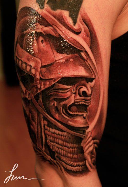 samurai mask potential tattoos pinterest. Black Bedroom Furniture Sets. Home Design Ideas