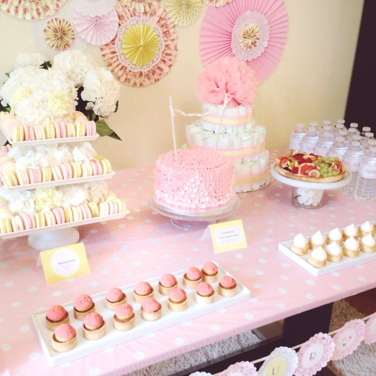 baby shower food ideas baby shower ideas pink and yellow