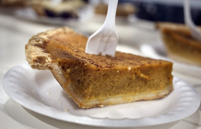 Spiced Pumpkin Pie recipe, perfect for Thanksgiving. Use canned or ...