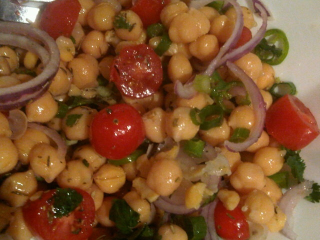 Chickpea and red onion salad | Quick Healthy Indian Recipes | Pintere ...