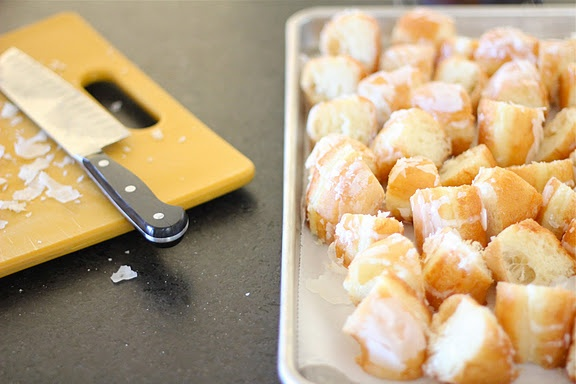 Leftover Glazed Doughnut Bread Pudding