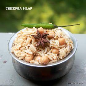 Follow foodie: Chickpea Pilaf | Chickpea Biryani Recipe