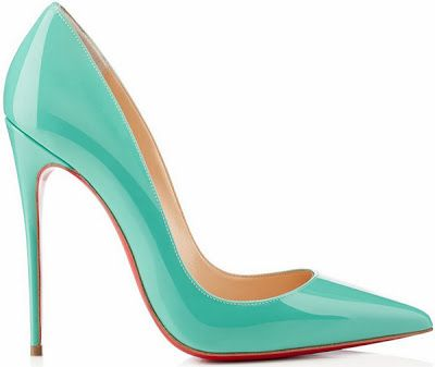 Christian Louboutin green pump Spring 2014