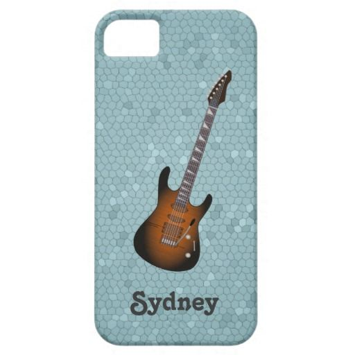 Case Design at and t phone cases : iPhone Case with electric guitar illustration iPhone 5/5S Covers