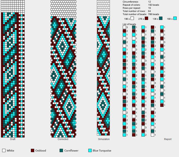 Схемы вязания бисерных жгутов крючком 60