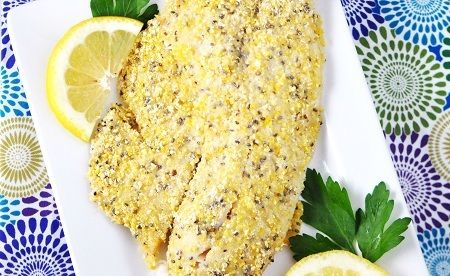 cornmeal chia seed tilapia | Food for a healthy soul | Pinterest