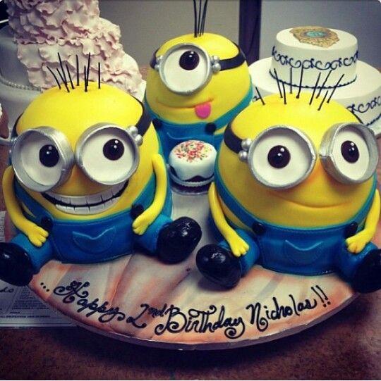 Minion Cake?? Birthday Ideas Pinterest
