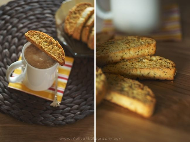 Lemon, Chia seed and Almond biscotti | Recipes | Pinterest