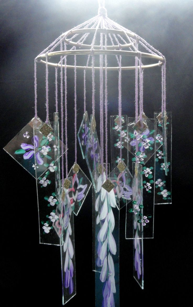 vintage chinese glass wind chimes