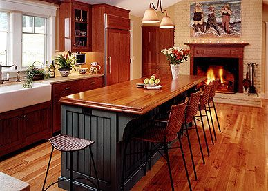 Kitchen fireplaces household remodels pinterest for Show me kitchen designs