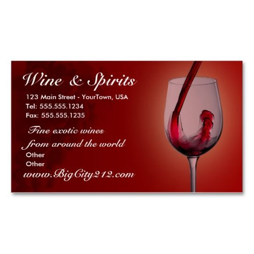 Customizable wine shop business cards for Wine business cards