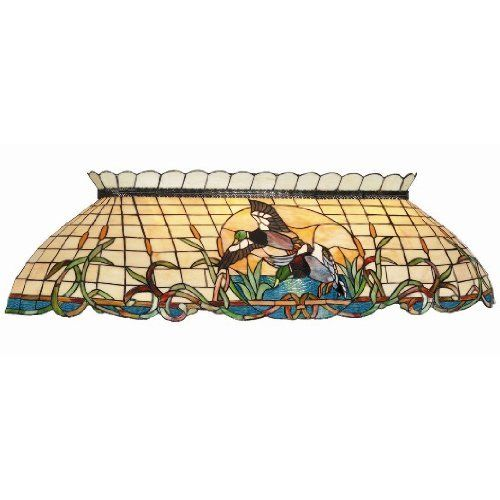 Budweiser 40 Inch Stained Glass Pool Table Light: Mallard Stained Glass Pool Table Light