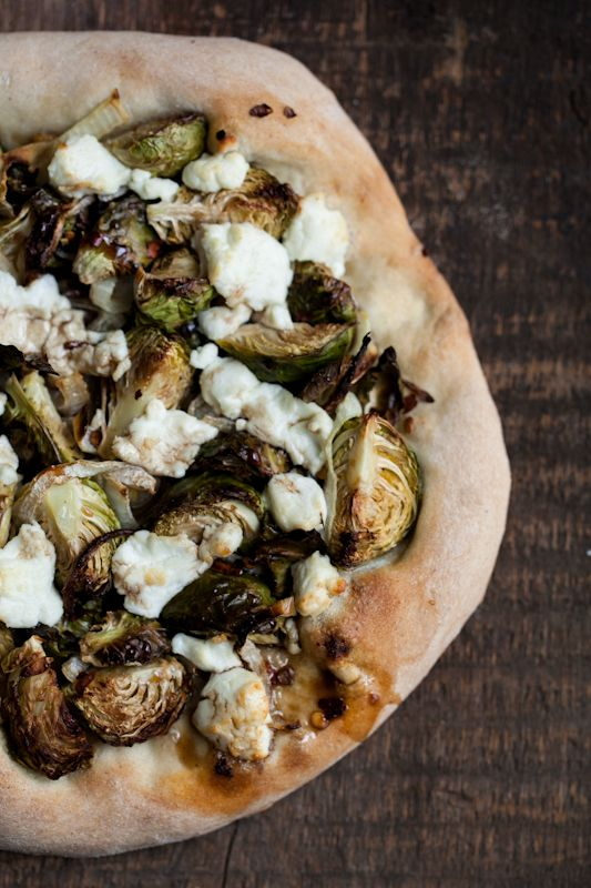 Roasted Brussels Sprouts and Goat Cheese Pizza | Recipe