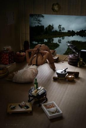 Mariel Clayton - Repose, art, photography, Barbie, Ken, toys, macabre, morbid, murder