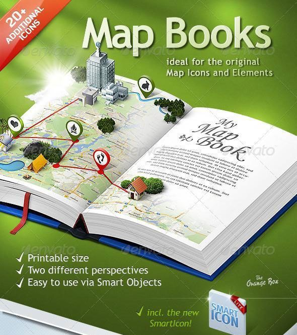 3d map photoshop book template photo editing and photoshop pinter