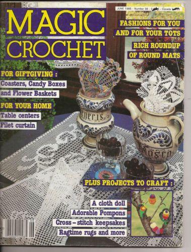 Crochet Home Magazine : Magic Crochet Magazine No 36 June 1985 Home Decor Crochet Patterns We ...