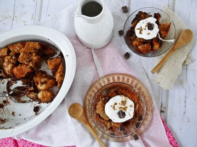 irish whiskey & chocolate bread pudding | Sweet Treats | Pinterest