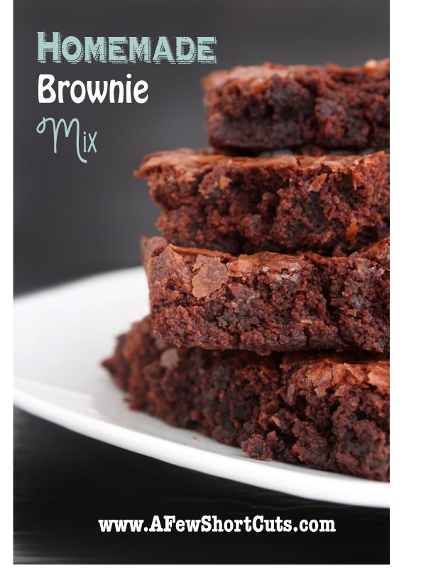 Homemade Brownie Mix - okay...finally tried this last week at the ...