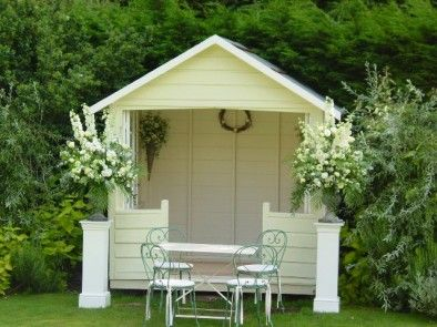 Summer house garden balcony designs pinterest for Garden design ideas with summer house