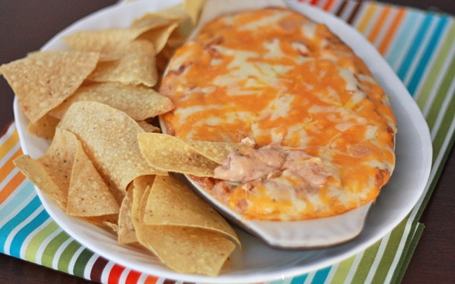 Cheesy Bean Dip - great for parties or Mexican Night