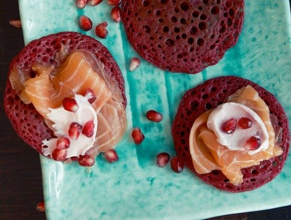 ... blinis with salmon marinated in star anise syrup from 'Home Made