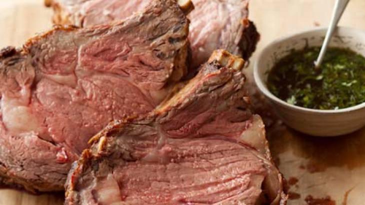Standing Rib Roast with Jus Recipe | Beef | Pinterest