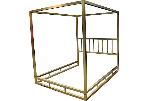 brass plated canopy bed frame sleepy time down south On brass canopy bed frame