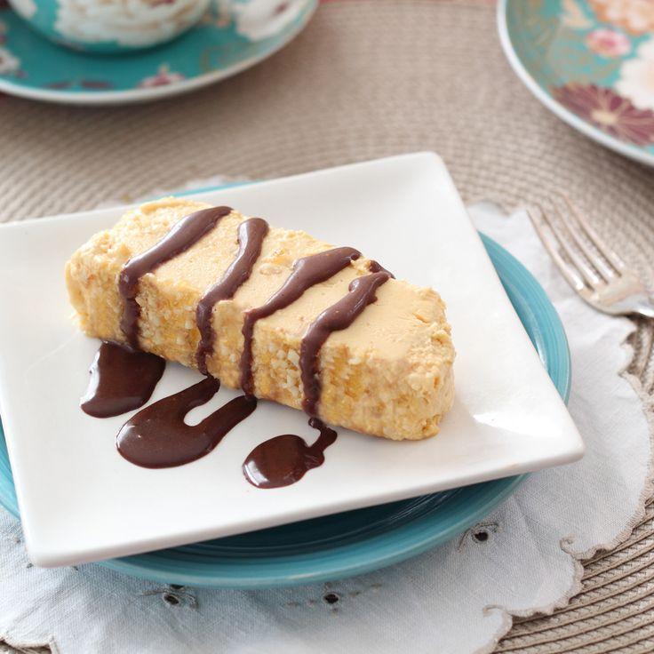 Peanut Butter Semifreddo & Chocolate Fudge Sauce