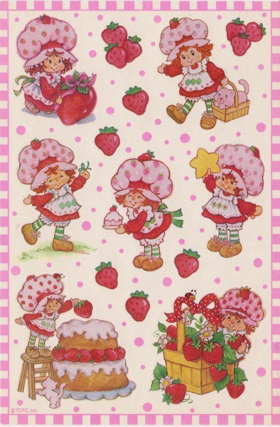 Vintage Strawberry Shortcake stickers   Strawberry, how do I love the ...