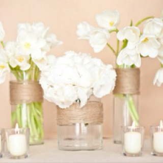 Rustic white arrangements