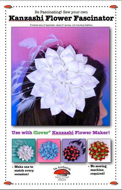 Kanzashi Flower Fascinator Pattern cover