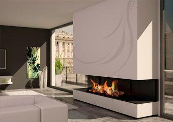 Chimeneas muy modernas decoracion de interiores pinterest - Chimeneas modernas decoracion ...