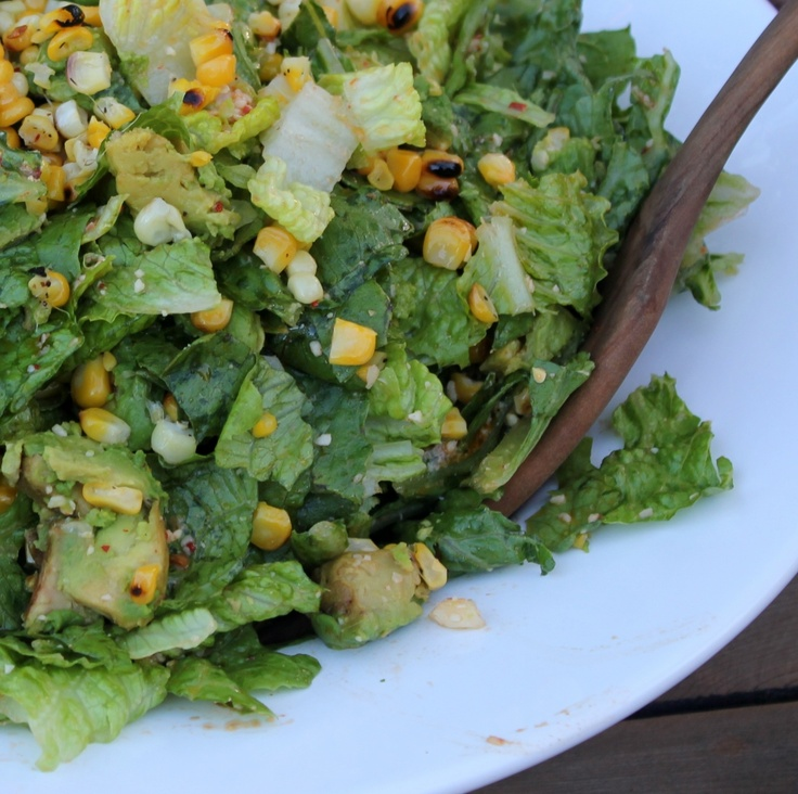 Romaine, grilled corn and avocado salad | Salads | Pinterest