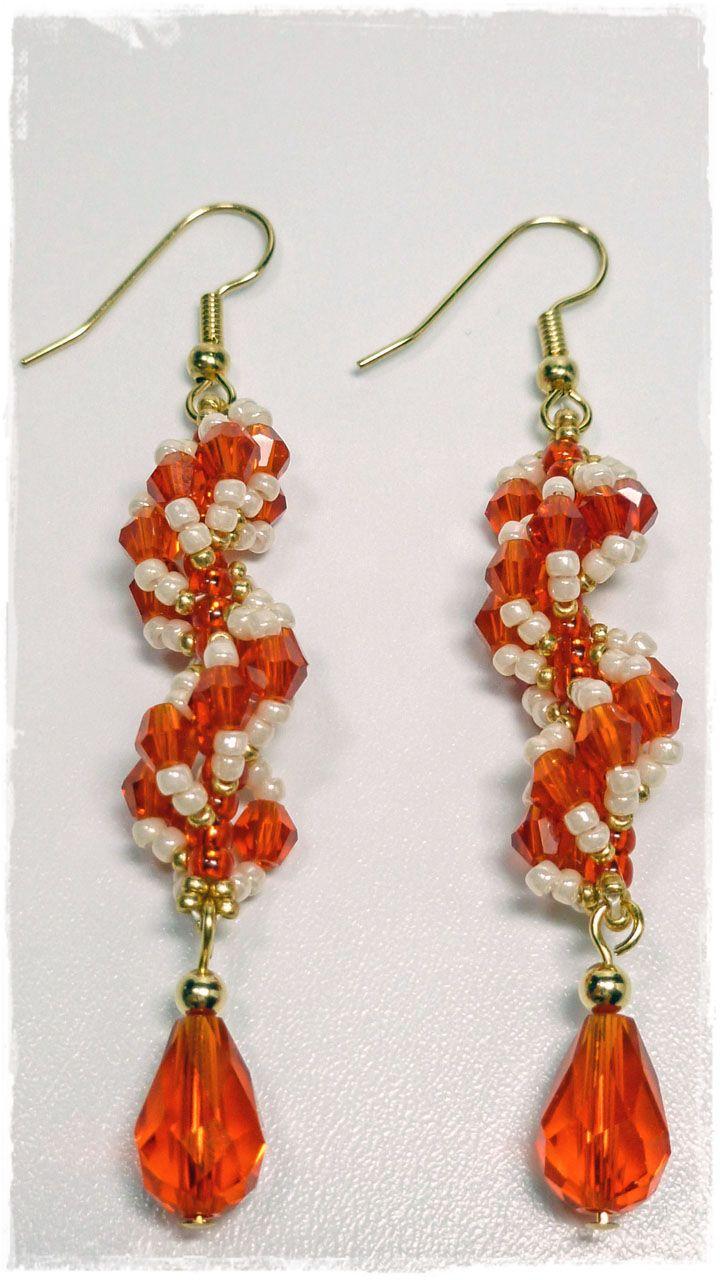 Free Crochet Spiral Earrings Pattern : The Heart Beading: Spiral Earrings Beaded Earrings ...