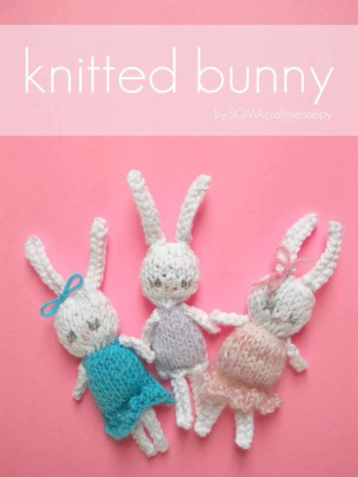 Easy Knitted Bunny. Free pattern. Knitting Pinterest