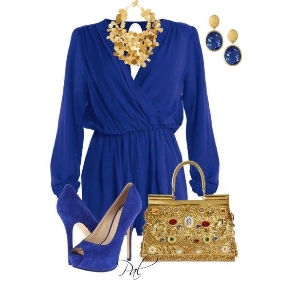 cobalt and sapphire, created by pamlcs on Polyvore