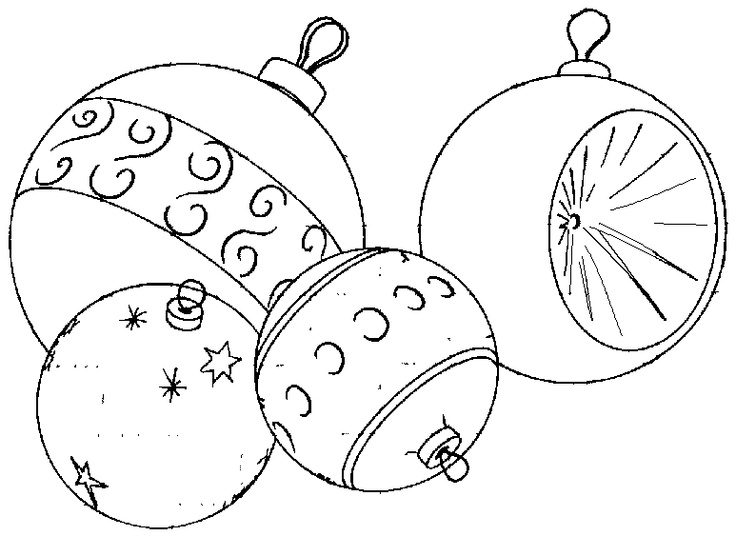 coloring pages christmas baubles - photo#16