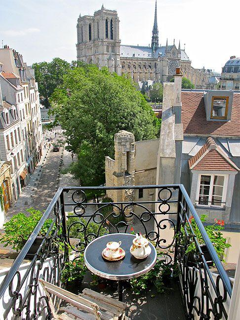 Morning coffee in paris cafe pinterest - Le petit balcon paris ...
