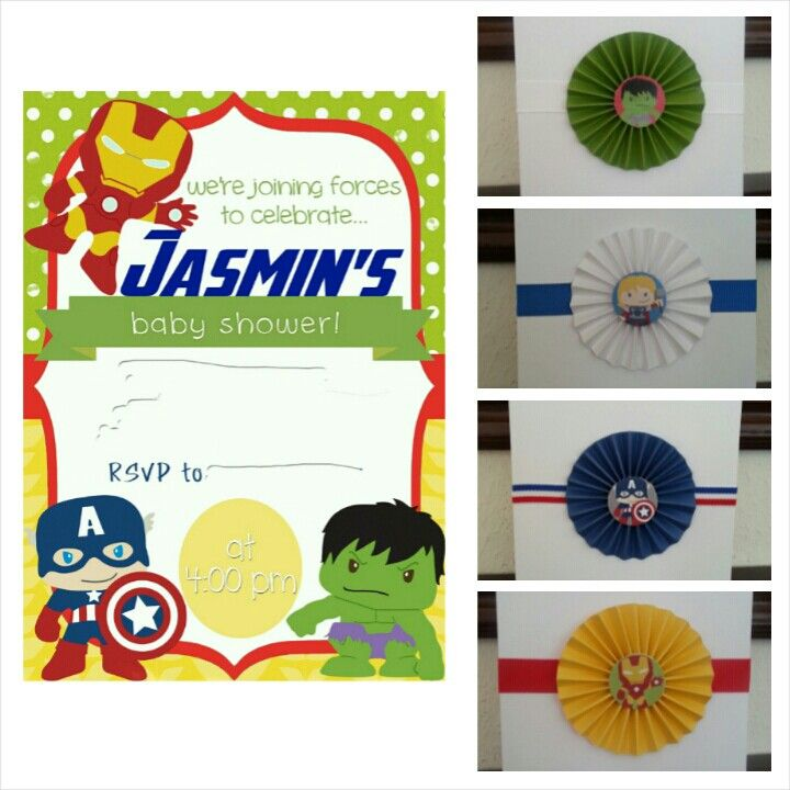 avengers baby shower invitations squee pinterest