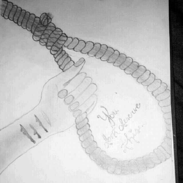 Quotes Self Harm Drawi...