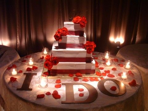 Decorating Cake Table Ideas : I am so doing this one! Luv it =) Everything Wedding ...