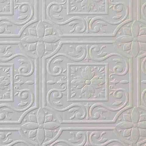 Paintable textured tile wallpaper 148 59001 for Paintable textured wallpaper